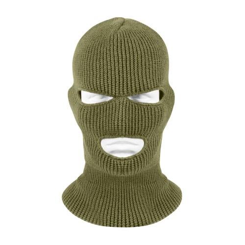ROTHCO Rothco, 3 Hole Face Mask, Acrylic, Olive Drab