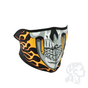 ZAN ZAN Headgear, Neoprene Half Mask, Burning Skull