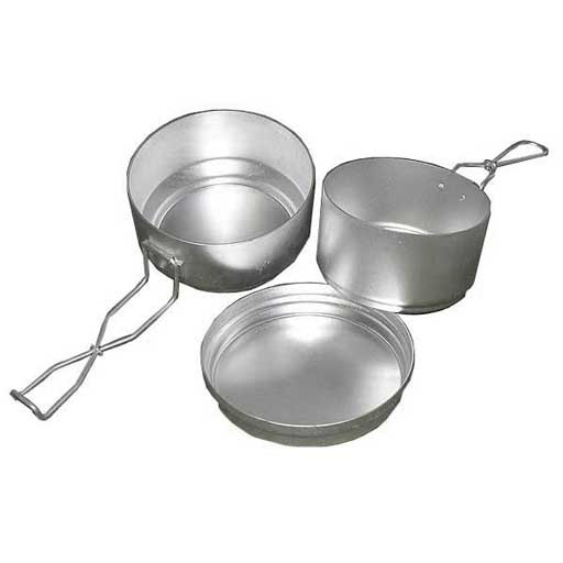 GENUINE SURPLUS Mess Kit, Czech. Aluminum, Like New - 3pc