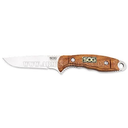 SOG Knife, Fixed Blade, Huntspoint, Wood, Bonning, S30V, SOG