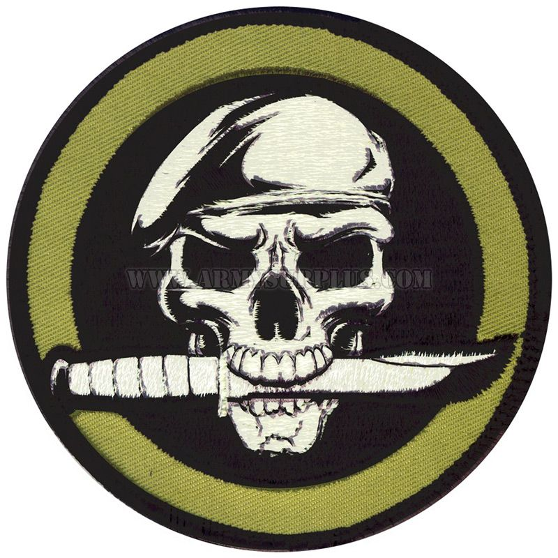 ROTHCO Rothco, Military Skull and Knife Patch
