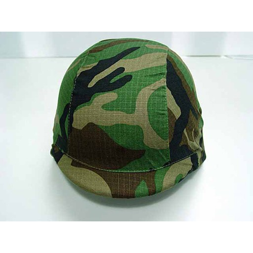 GENUINE SURPLUS Cover, Helmet, M-1, Woodland, Late Vietnam Era
