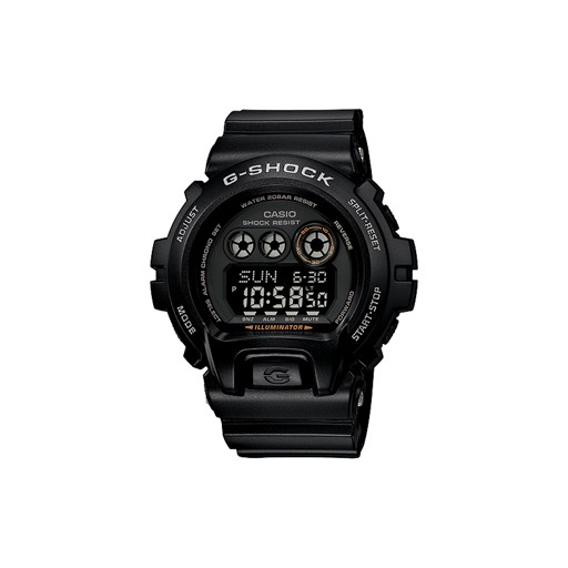 G-Shock 10 Year Battery<br />    Shock Resistant<br />    200M Water Resistant<br />    Alpha Gel (R)<br />    Auto LED (Super Illuminator) Backlight with Afterglow<br />    Flash Alert<br />    Flashes with buzzer that sounds for alarms, hourly time signal, countdown timer progress beeper an