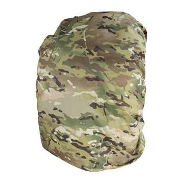 CONDOR The Condor Raincover was designed to keep your backpack and essentials dry. The MultiCam Theta material is IR treated, giving you a low profile in visible light. It is also backcoated with fire retardant material that doubles as a sealant, closing the por