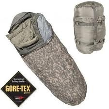 "GENUINE SURPLUS Sleeping Bag - Improved Modular - ACU Camouflage Bivy - 4 -Piece Complete, ""BRAND NEW"""