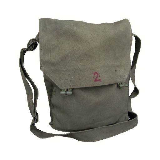 GENUINE SURPLUS Czechoslovakian, Shoulder Bags, Gas Mask,  1940's to 1950's era.