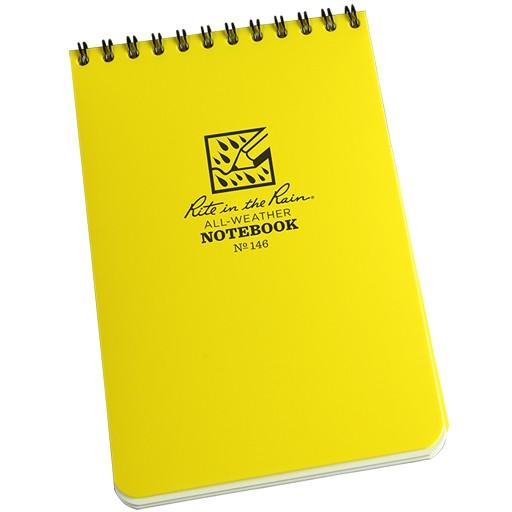 "RITE IN THE RAIN Rite in the Rain, Universal Polydura Notebook, 4"" x 6"", Yellow"