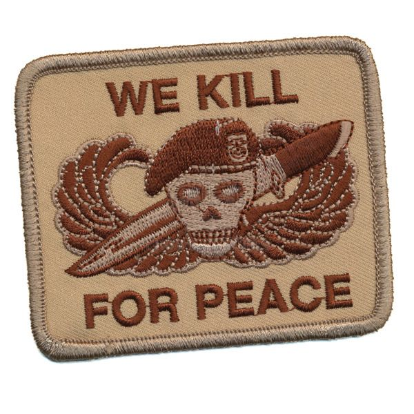 Patch, We Kill For Peace, Desert