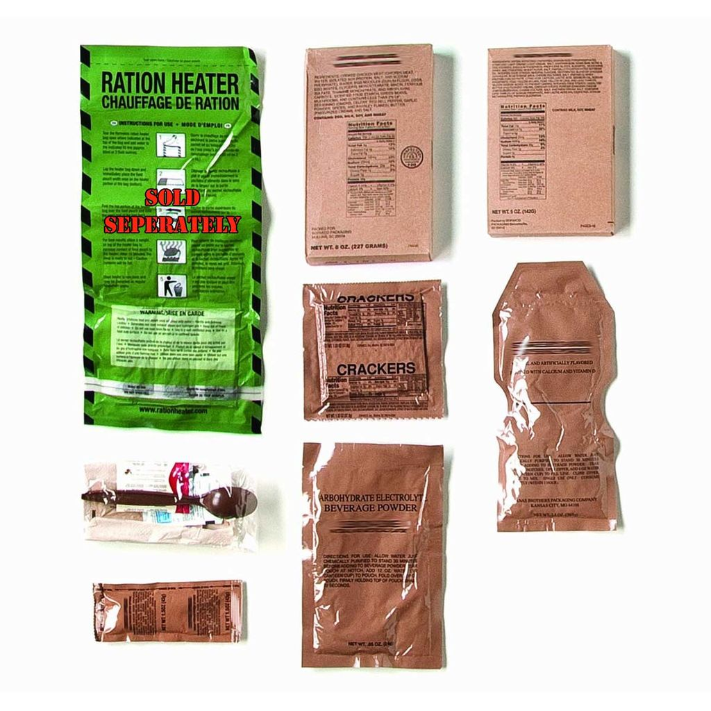 Ration - Meals Ready to Eat - [MRE] Individual Meal Kit- Box of 12