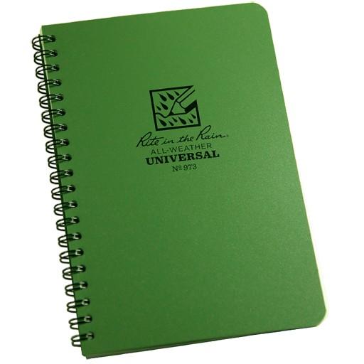 RITE IN THE RAIN Rite in the Rain, Universal Polydura Notebook, 4 5/8'' x 7'', Olive Drab