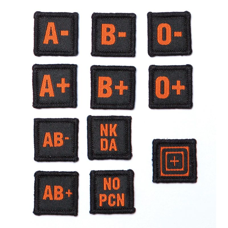 5.11 TACTICAL 5.11 Tactical, Blood Type Patch Set