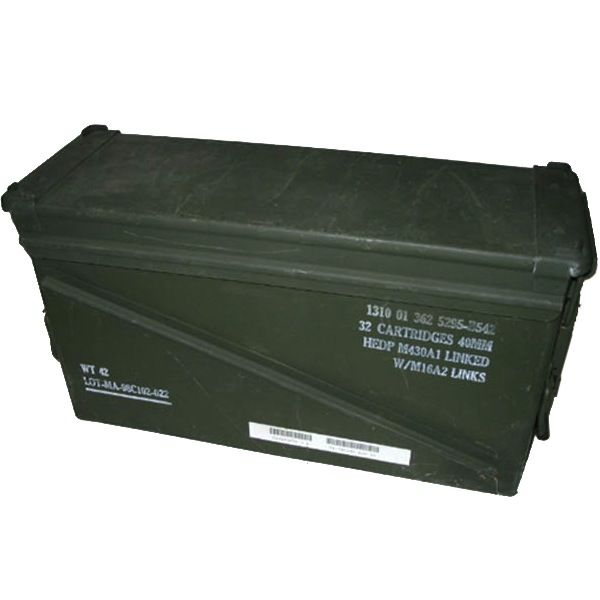 GENUINE SURPLUS Container, Ammo Box, 40mm Grenade [17.5''x10''x6'']