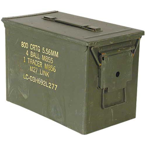 GENUINE SURPLUS Container, Ammo Box, 50 Cal. ''Fat 50''