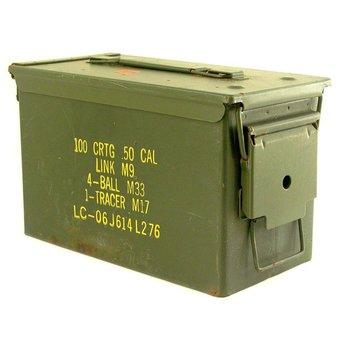 GENUINE SURPLUS Container, Ammo Box, 50 Cal. (12.7mm) [5.5''x11''x7.25'']