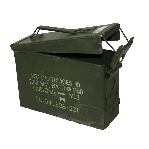 GENUINE SURPLUS Container, Ammo Box, 30 Cal.