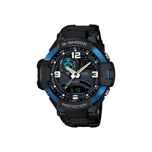 G-Shock G-Shock, GA1000-2B, G-Aviation Series, Black/Blue