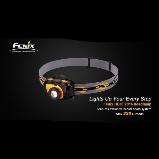 FENIX Fenix, HL30 2015 Gold Headlamp, 230 Lumen