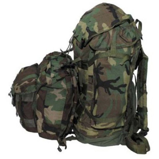 GENUINE SURPLUS Geunine Issue, Us Army, CPF-90, Pack, Main and Assault Pack, Woodland