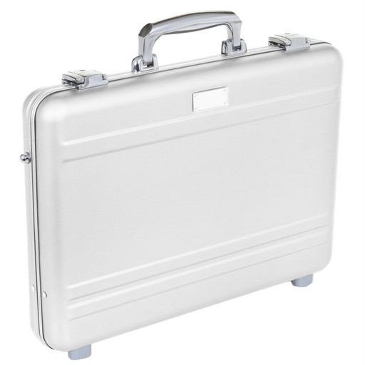 MLINE, 15'' Slim Laptop Case, Silver Aluminum