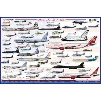 EUROGRAPHICS Poster - American Aviation - Modern Era (1946-2010)