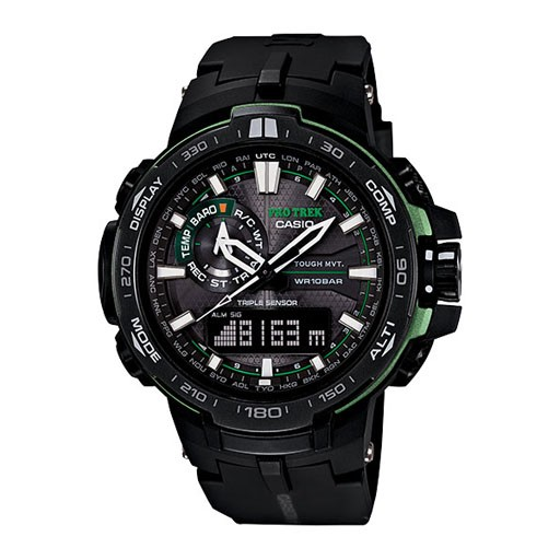 G-Shock At A Glance<br /> <br /> &quot;Introducing the newest addition to the PROTREK lineup featuring an analog-digital display and Version 3 Triple Sensor technology. In addition to its fast &amp; precise sensors for taking bearing, altitude, and barometric pressure readings, its a
