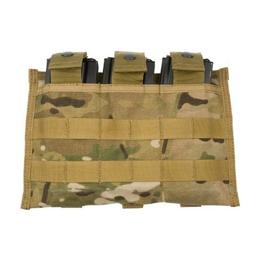 GENUINE SURPLUS GI MOLLE M4/M16 Triple-Magazine Pouch - Multicam - NSN 8465-01-580-0967