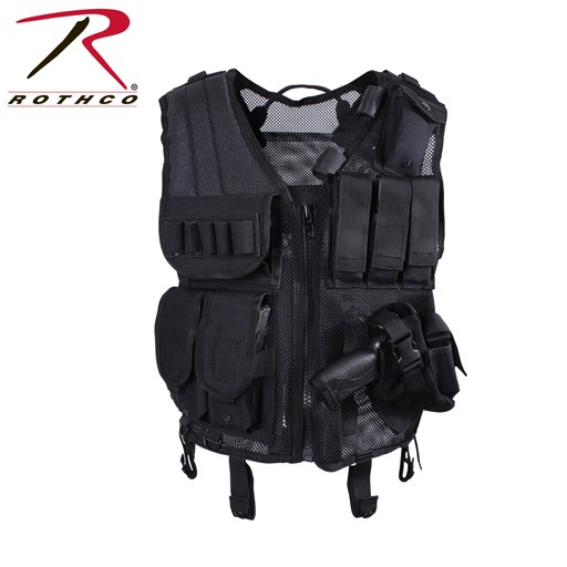 ROTHCO Rothco, Quick Draw Tactical Vest, Black