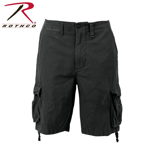 ROTHCO Rothco, Solid Vintage Infantry Utility Shorts, Black