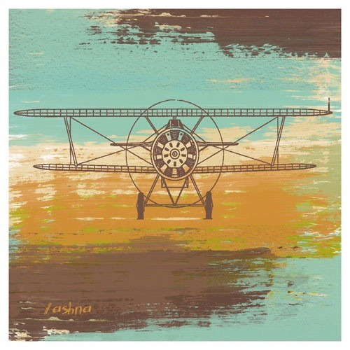 Poster - Biplane I - Giclee Print on Photo Paper