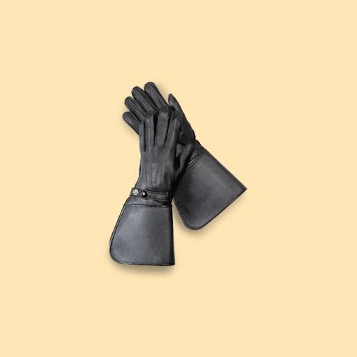 Glove - Gauntlet - Motorcycle - Rhode Island Police Office - Deer Skin -