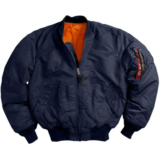 ALPHA INDUSTRIES INC. Jacket MA-1, Alpha Industry, Made in USA, Blue