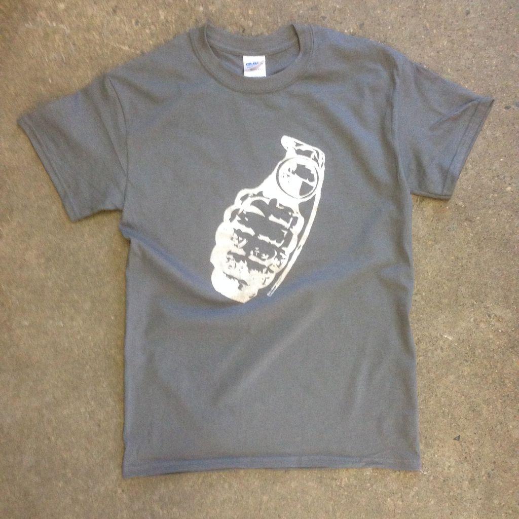 T-Shirt, Grenade, Silver