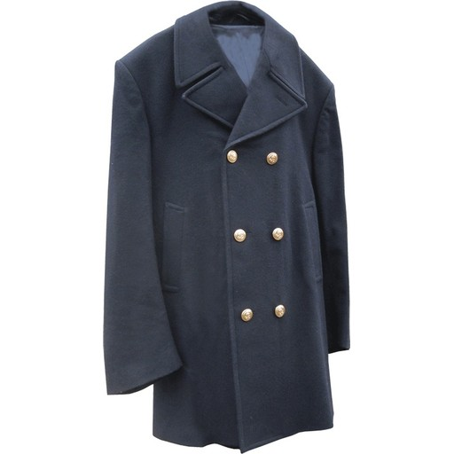 GENUINE SURPLUS Peacoat, Italian Issue, Wool, Navy Blue