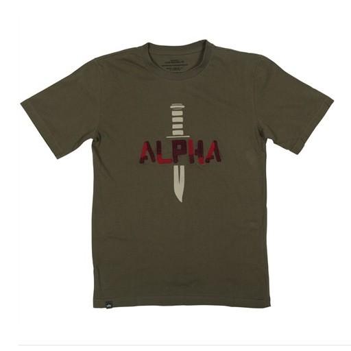 ALPHA INDUSTRIES INC. Alpha Industries, Knife T-shirt, Sage