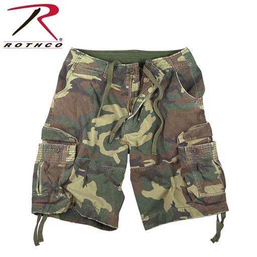 ROTHCO Rothco, Vintage Woodland Camo Infantry Utility Shorts