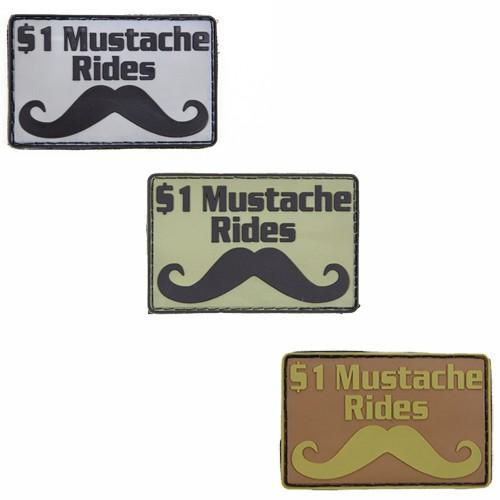 Morale Patch, $1 Mustache Rides
