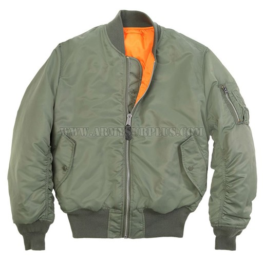 ALPHA INDUSTRIES INC. Alpha Industries, MA-1 Flight Jacket, Sage Green