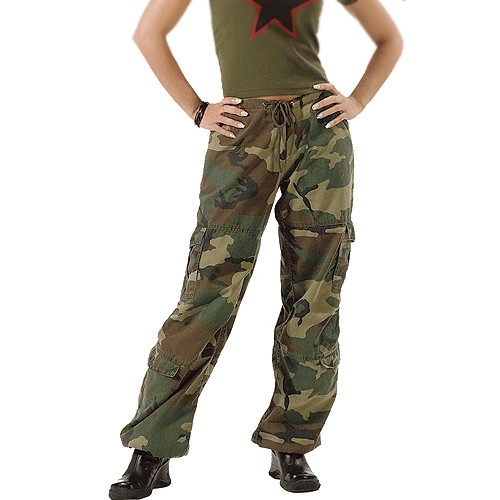ROTHCO Rothco, Women's Vintage Paratrooper Fatigue Pants, Woodland