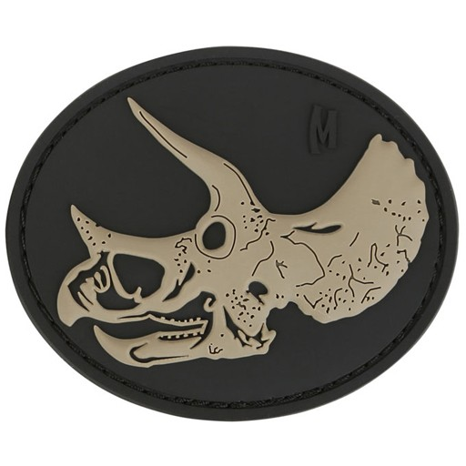 MAXPEDITION Maxpedition, Triceratops Skull Patch, PVC, Velcro Back