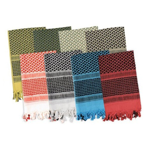 ROTHCO Shemagh Tactical Desert Scarf, Black Pattern