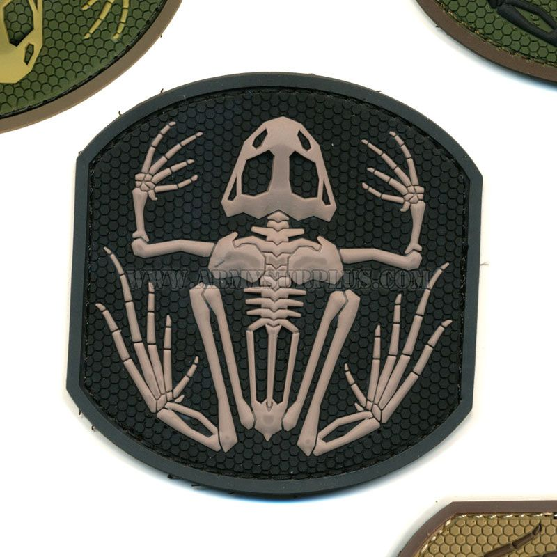 MIL-SPEC MONKEY Mil-Spec Monkey, Frog Skeleton Patch, PVC