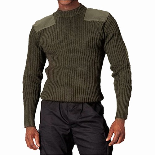 ROTHCO Rothco, Government Type, Wool, Commando Sweater, Olive