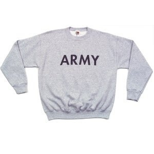 GENUINE SURPLUS Genuine US Issue, Army, Crew Neck Sweatshirt, Grey