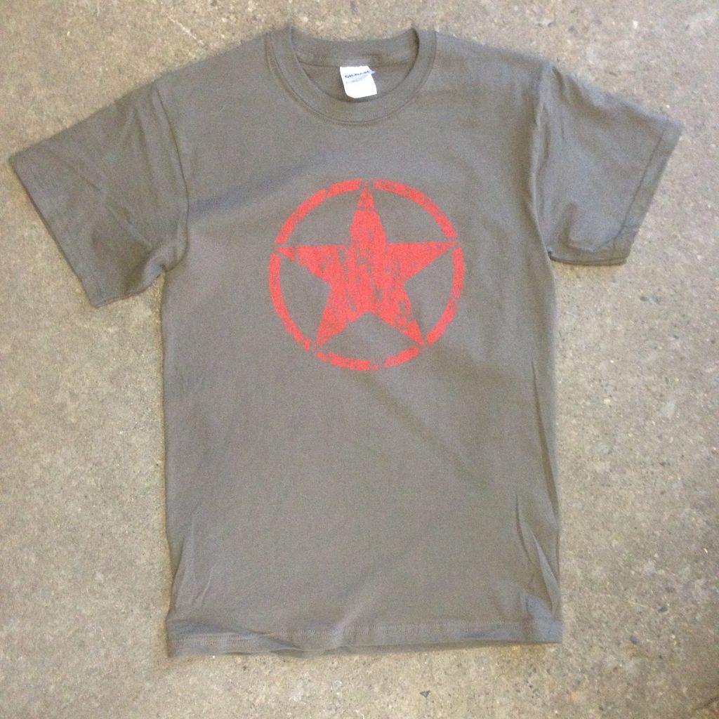 T-Shirt, Red Star, Vintage