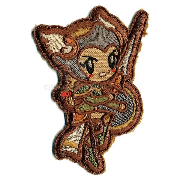 MIL-SPEC MONKEY Patch, Cute Valkyrie, Velcro Back