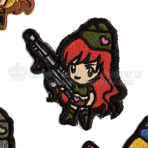 MIL-SPEC MONKEY Patch, Gun Girl1, Velcro Back