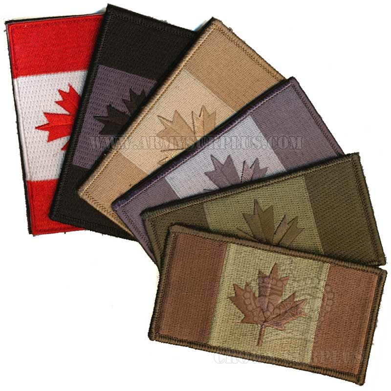 Patch - Canadian Flag - Assorted - Velcro Backed
