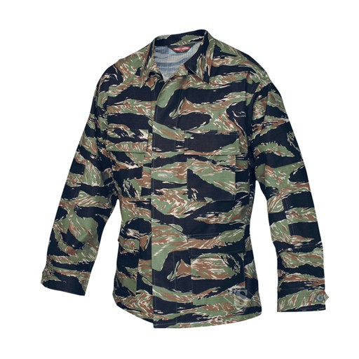 TRU-SPEC TRU-SPEC, Classic BDU Coat, Original Vietnam Tiger Stripe, 100% Cotton RipStop