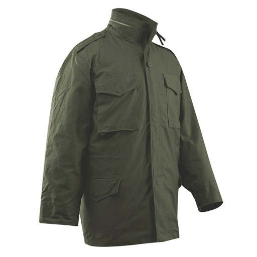 TRU-SPEC TRU-SPEC, M-65 Field Coat with Liner, 50/50 Cotton/Nylon Sateen, Olive Drab