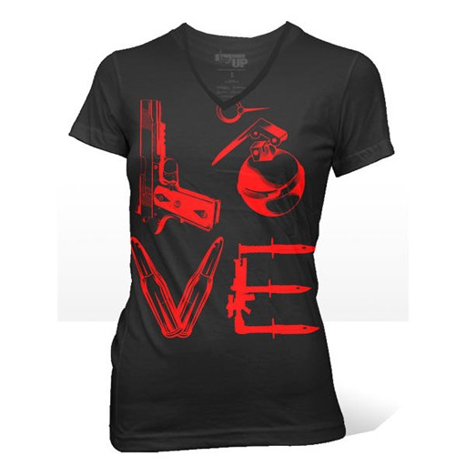 RANGER UP Ranger Up, Women's Black Love T-Shirt